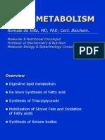Lipid Metabolism by Dr. de Villa
