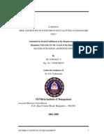 Gururaj S-0373-Risk & Return of Investors