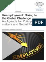 WEF GAC Employment UnemploymentRisingGlobalChallange Report 2014