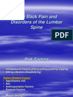 Low Back Pain and Disorders