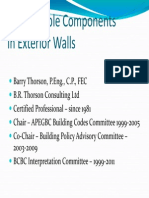 Combustible Components in Exterior Walls