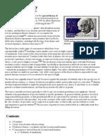Special Relativity - Wikipedia, The Free Encyclopedia