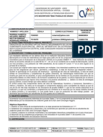 Formato de Inscripción UDES Trabajo de Grado