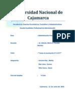 Informe de Finanzas.