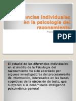 Diferencias individuales en la psicolog+¡a del razonamiento