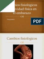 Cambios Fisiológicos y Actividad Física en El Embarazo