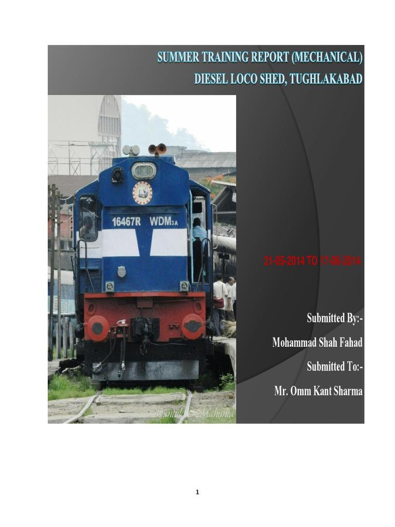 summer training diesel loco shed 2014 tughlakabad internal rh scribd com Diesel Locomotive Engines Diesel Locomotive Trains