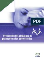 Prevención Del Embarazo No Planeado en Los Adolescentes. SSa (2002)