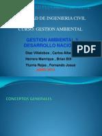 Gestion Ambiental y Desarrollo Nac.