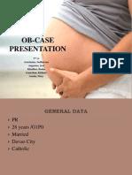 Ob - Case Presentation
