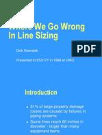 Line Sizing