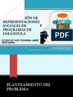 Construcción de Representaciones Sociales en Programas de Farándula Pstacion Chica