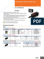 Smart Sensors Laser Displacement Sensors CMOS Type