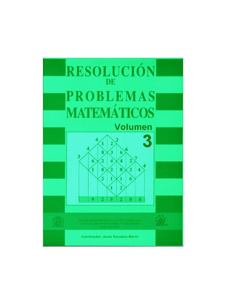 Resolucion de Problemas Matematicos (Vol 3)