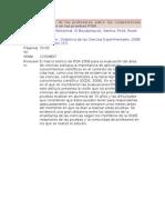 La visión de los profesores sobre las competencias evaluadas en las pruebas PISA