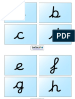 Cursive Alphabet Cards