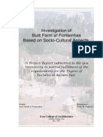 Investigation of  Built Form of Fontainhas  Based on Socio-Cultural Aspects Report - a dissertation by Rohit Nadkarni