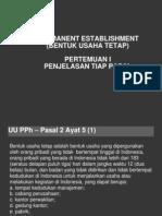 Permanent Establishment Semester 2013
