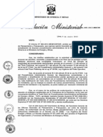 Resolución MInisterial N° 003-2013-MEM-DM