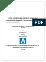 166237327 Tata Voltas Summer Internship 2013