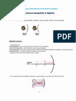 Fizica Optica Cheet Sheet - Formarea Imaginilor in Oglinzi Si Lentile