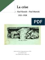 Korsch, Mattick, Korsch - La Crise