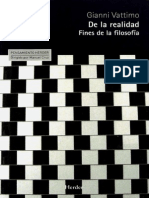 Vattimo, Gianni - De La Realidad - Fines de La Filosofía 2013
