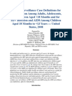 2008 Revised Surveillance Case Definitions for HIV Infection Among Adults
