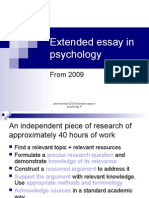 extended essay 2010 psychology