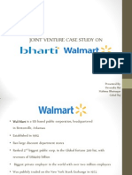 Joint Venture Case Study on Bharti Walmart
