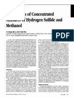 Biofiltration of Concentrated Mixtures of Hydrogen Sulfide and Methanol