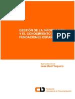 Informe Gestión del Conocimiento en Fundaciones