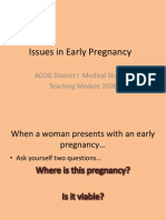Early Pregnancy