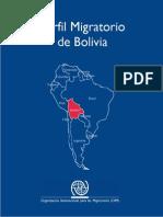 OIM Perfil Migratorio de Bolivia