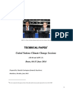 Technical Paper - United Nations Climate Change Sessions June 2014
