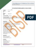 Microsoft Dynamics AX-Functional(Trade&Log)