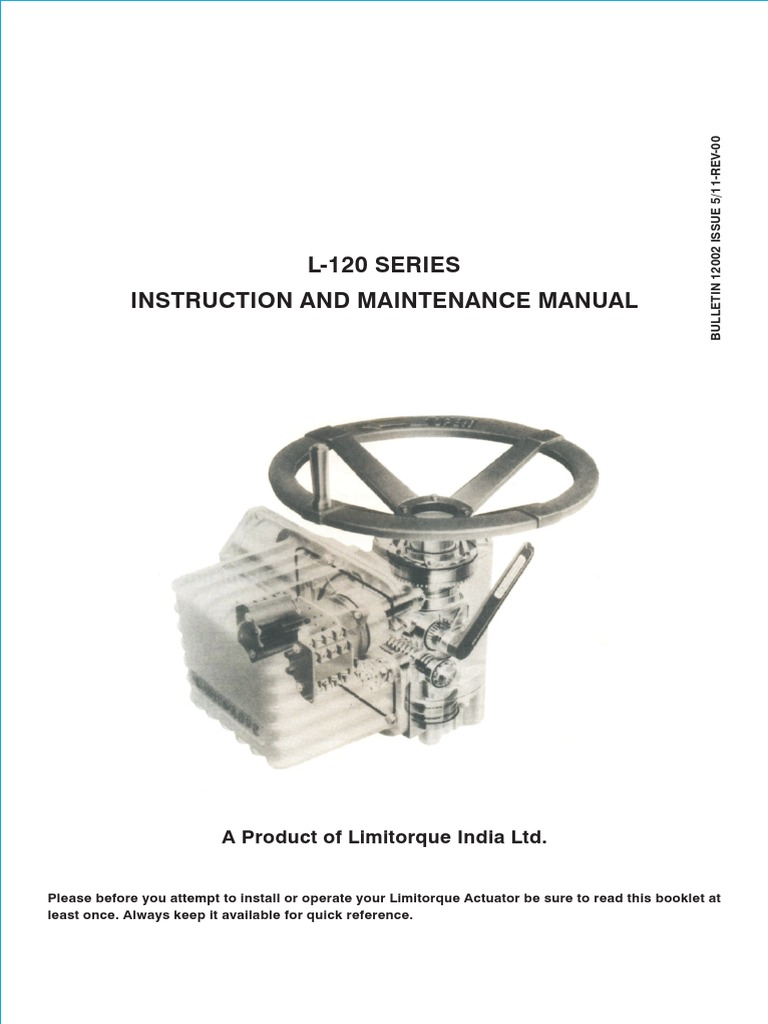limitorque instruction and maintenance l120 clutch valve rh scribd com
