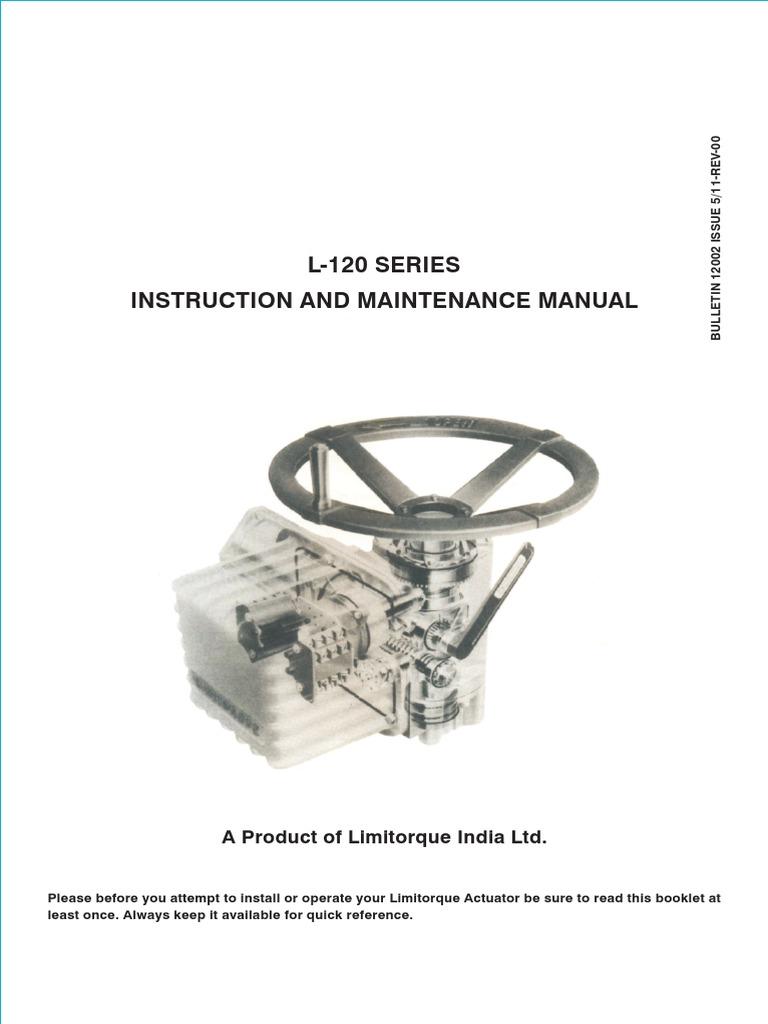 limitorque instruction and maintenance l120 clutch valve rh scribd com