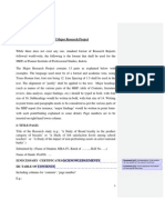 Format of Major Research Project MBA IV 937789250