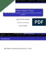Algorithmic Decision Theory Presentation