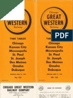 CGW Public Timetable Apr 27 1952