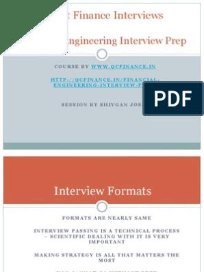 Quant Interview Prep | Quantitative Analyst | Mathematical Finance