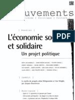 Mouvements, Économie Sociale Et Solidaire - Un Projet Politique
