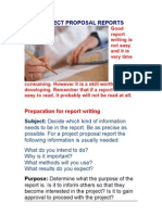 Project Reports Writing