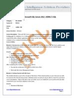 MIcrosoft SQL Server 2012_T-SQL