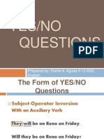 Report on YESNO Questions