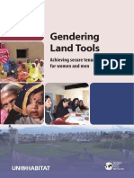 Gendering Land Tools