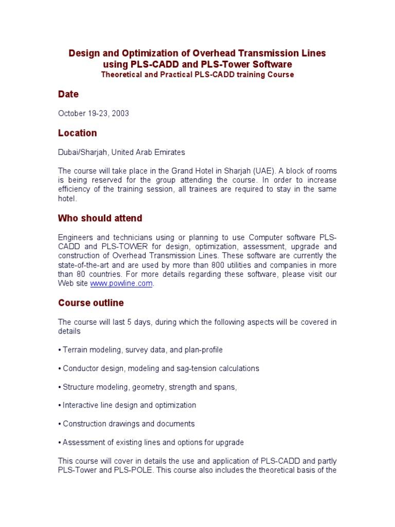 PLS-CADD   Electric Power Transmission   International