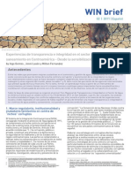 Transparencia e Integridad en Agua Centroamerica WINBrief_2