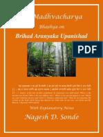 Brihad Aranyak Upanishad Commentary